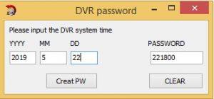 Dvr şifre resetleme